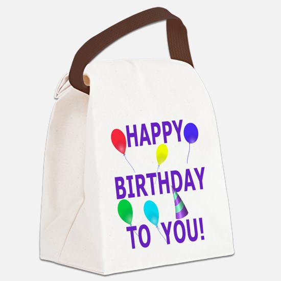 Shot Glass Happy Birthday To You Canvas Lunch Bag