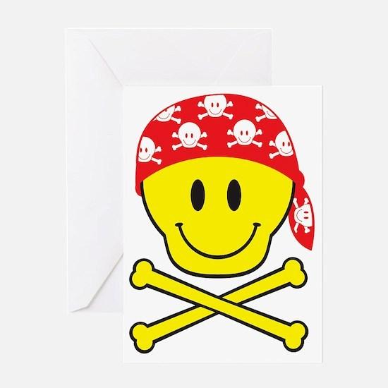 SmileySkullApart Greeting Card