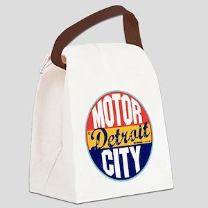 Detroit Vintage Label W Canvas Lunch Bag