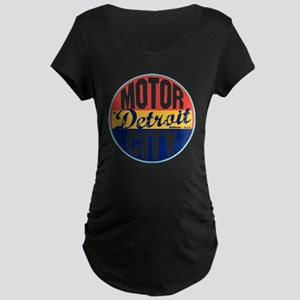 Detroit Vintage Label W Maternity Dark T-Shirt