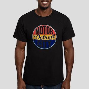 Detroit Vintage Label  Men's Fitted T-Shirt (dark)