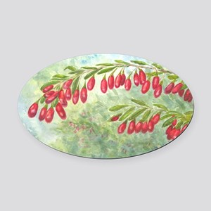 wolfberry YL Oval Car Magnet