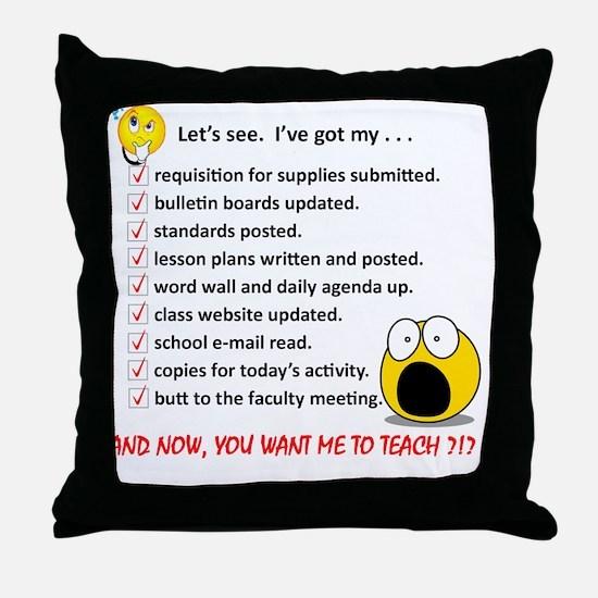 WhiteLetsSee Throw Pillow