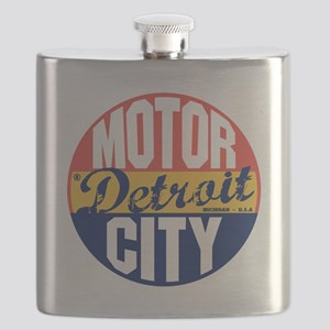 Detroit Vintage Label B Flask