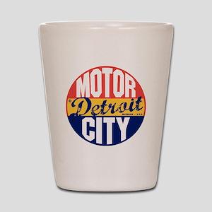 Detroit Vintage Label B Shot Glass