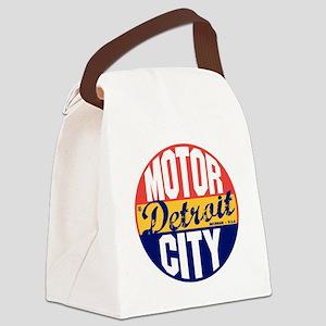 Detroit Vintage Label B Canvas Lunch Bag