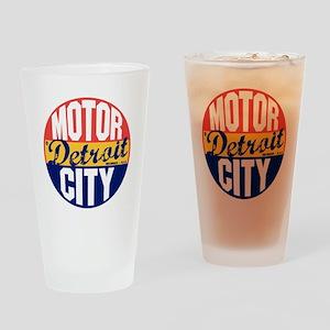 Detroit Vintage Label B Drinking Glass