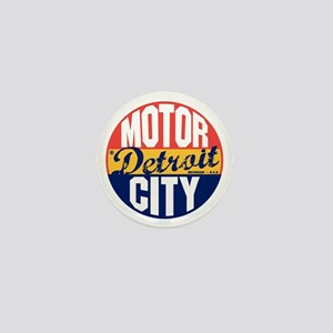 Detroit Vintage Label B Mini Button