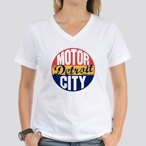 Detroit Vintage Label B Women's V-Neck T-Shirt
