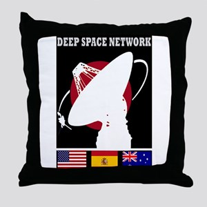 Deep Space Network Throw Pillow