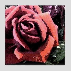 Rose Painting Tile Coaster