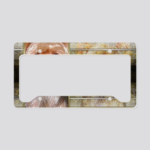 NewYearGoldenEleganceYorkshir License Plate Holder