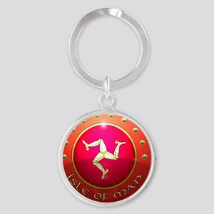 isle of man shield  Round Keychain
