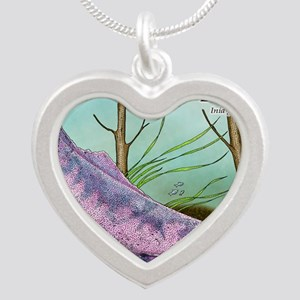 Amazon River Dolphin Silver Heart Necklace