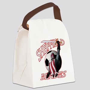 sheffield blades dark shirt Canvas Lunch Bag