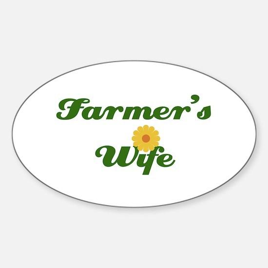 Farmer's Wife Oval Decal