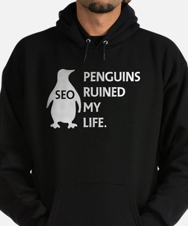 Penguins ruined my life. Hoodie (dark)