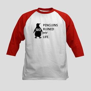 Penguins ruined my life. Kids Baseball Jersey