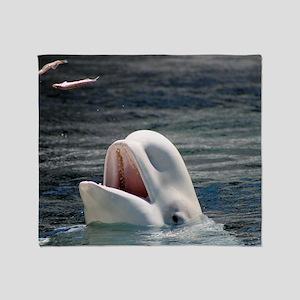 Beluga Whales 5 Throw Blanket
