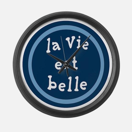 la_Via_est_Belle Large Wall Clock