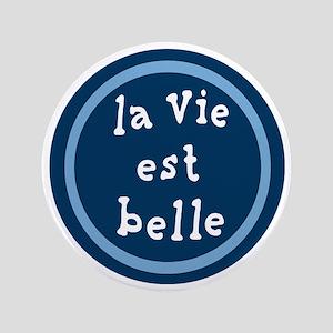 """la_Via_est_Belle 3.5"""" Button"""
