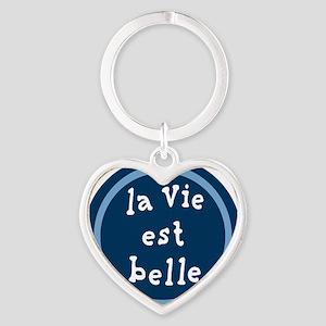 la_Via_est_Belle Heart Keychain