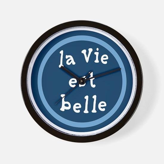 la_Via_est_Belle Wall Clock