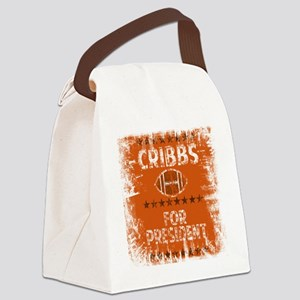 cribbs for pres shirt Canvas Lunch Bag