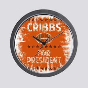 cribbs for pres shirt Wall Clock