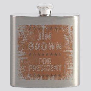 Jim Brown For Pres Tee Flask
