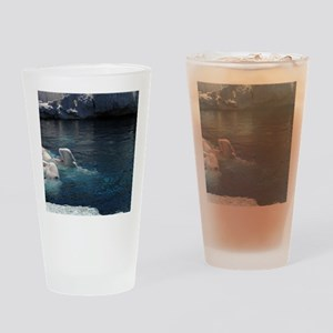 Beluga Whales Drinking Glass
