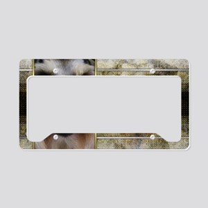 NewYearGoldenEleganceSchnauze License Plate Holder