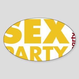 EvenWankersDarkShirt Sticker (Oval)