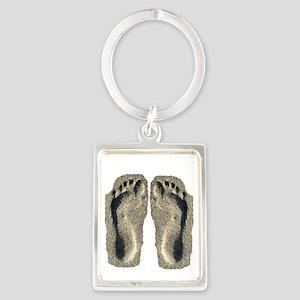 sand flip flops Portrait Keychain