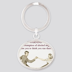 Drunken Dancing Oval Keychain