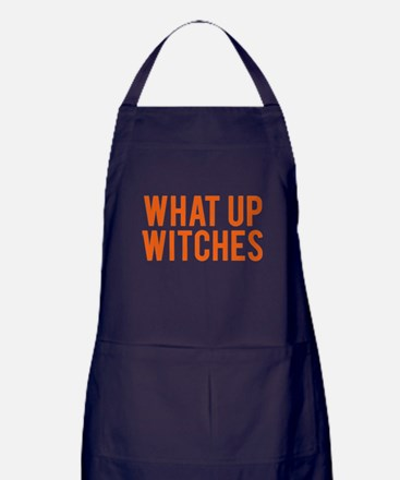 What Up Witches Halloween Apron (dark)