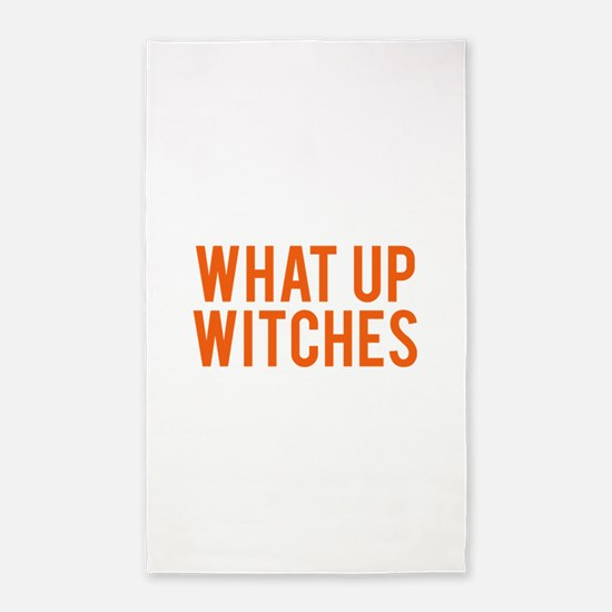 What Up Witches Halloween Area Rug