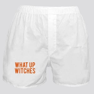 What Up Witches Halloween Boxer Shorts
