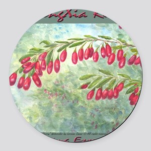 wolfberry YL blue Round Car Magnet
