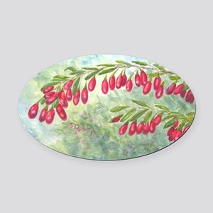 wolfberry YL blue Oval Car Magnet