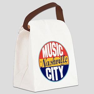 Nashville Vintage Label W Canvas Lunch Bag