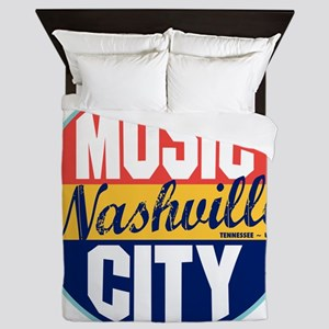 Nashville Vintage Label W Queen Duvet
