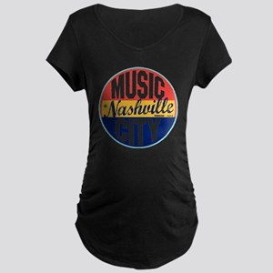 Nashville Vintage Label W Maternity Dark T-Shirt