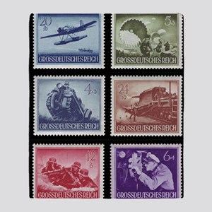 Wehrmacht Memorial Day stamps1944 Throw Blanket