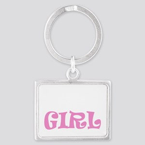 Run like a girl new light Landscape Keychain