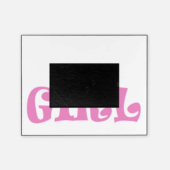 Run like a girl new light Picture Frame