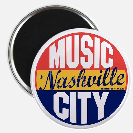 Nashville Vintage Label B Magnet