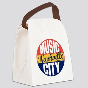 Nashville Vintage Label B Canvas Lunch Bag