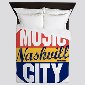 Nashville Vintage Label B Queen Duvet