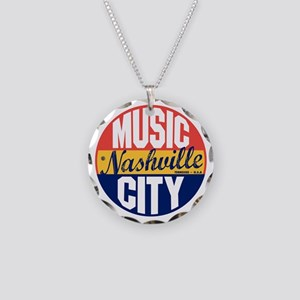 Nashville Vintage Label B Necklace Circle Charm